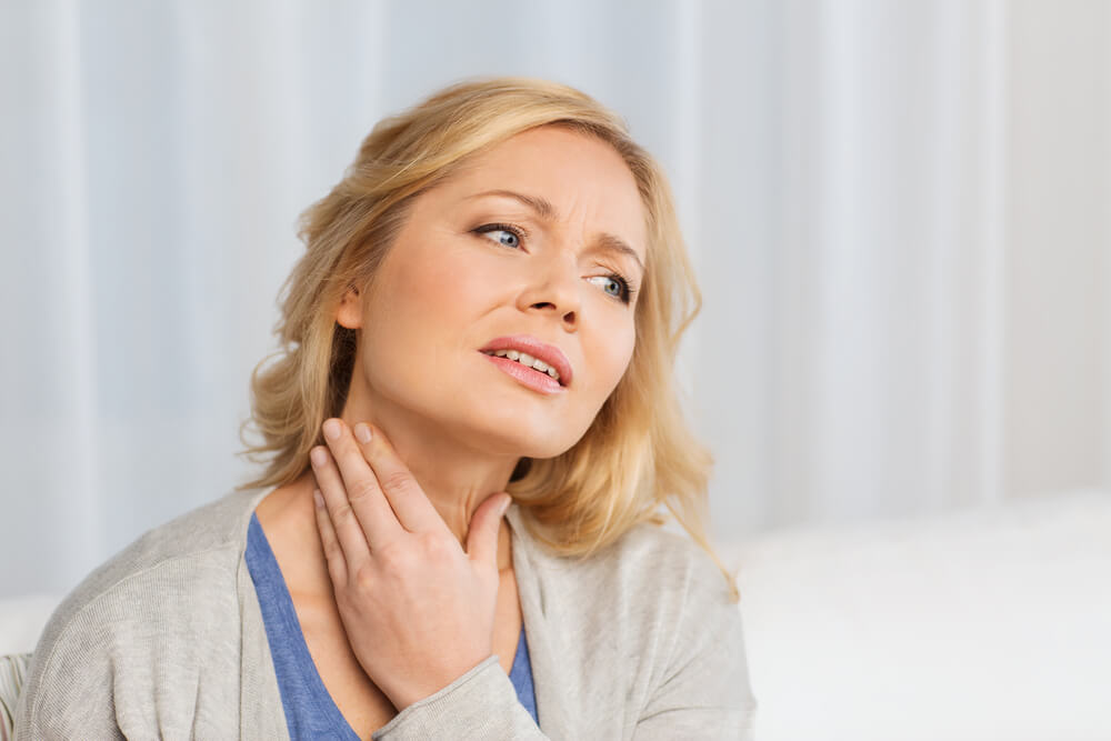 front neck muscle pain